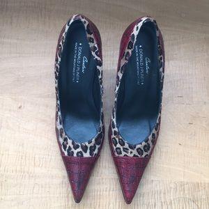 Couture Donald J Pliner Heels Leopard size 7.5